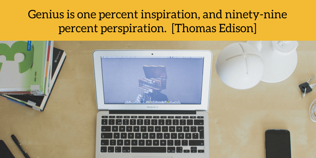 Innovation Quote: Genius is one percent inspiration